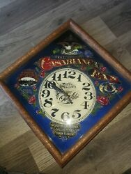 Vintage 80's Casablanca Fan Co Clock. Wood And Glass. Works. Look