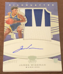 9/12 James Wiseman 2020-21 Crown Royale Rpa Silhouettes Jumbo Patch Auto Rookie