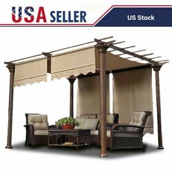 2pcs Pergola Canopy Replacement Cover Outdoor Yard Patio Sunshade Uv20+ 15.5x4ft