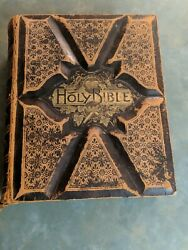 Holy Bible The Parallel Bible. Vintage 1880s.