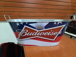 Long Budweiser Ice Drinks Bucket Container