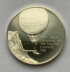1973 History Of Flight Silver 1785 First Aerial Crossing Of The English Channel