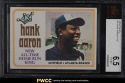 1974 Topps Hank Aaron All-time Hr King 1 Bvg 6.5 Exmt+