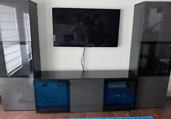 Ikea Besta Entertainment Center - 2 Wall Units And Tv Stand. Local Pickup Dfw Tx