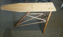 Antique Our Own National Washboard Co Chicago Wooden Ironing Board ♡pick Up Only