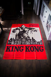 King Kong Rko 1933 B 4x6 Ft Vintage French Grande Movie Poster Rerelease 1960and039s