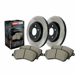 Stoptech For Bmw 335i Gt Xdrive 2014 2015 2016 Axle W/ Brake Rotors And Brake Pad