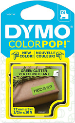Dymo Colorpop Authentic Label Maker Tape 1/2 W X 10and039 L Black Print On Green G