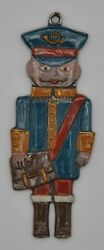 Kuhn Zinn Pewter Ornament Postal Delivery Man Double Sided