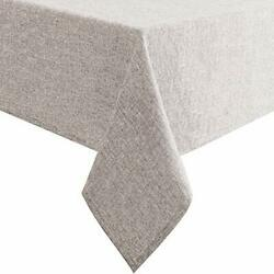 Hiasan Faux Linen Rectangle Tablecloth - Waterproof Wrinkle And Stain Resistant