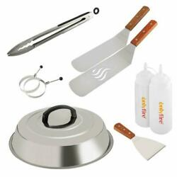 """Bbq Griddle Tool Kit Great With One 12""""melting Dome, 9 Pcs"""