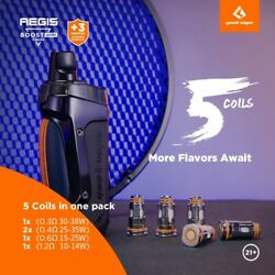 Limited Luxury Edition Geekvape Aegis Boost Kit 40w 1500mah Andndash 5 Coils Included