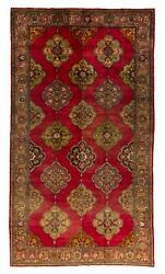 8x14 Ft Vintage Oushak Rug Hand-woven By Greek Anatolians. Early 20th Century.
