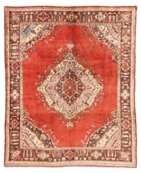 8x9.5 Ft Authentic Semi Antique Turkish Oushak Rug In Rare Size