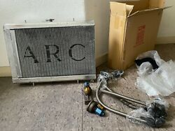 Arc Radiator Oil Cooler Combo Rare For Nissan Skyline Gtr R32 Bnr32 Rb26 Japan