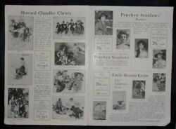 1917 Revised Catalog Of The Cosmopolitan Print Dpt. Popular Portraits By Fisher