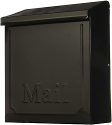 Wall Mount Mail Box Heavy Duty Galvanized Steel Extra Large Mailbox Home 10.75