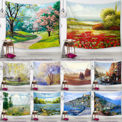 Nature Flowers Scenery Tapestry Wall Hangings Psychedelic Tapestries Throw Decor