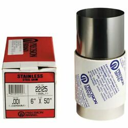Precision Brand 22976 .30mm 150mm X 1.25m Stainless Steel Metric Shim Stock Roll