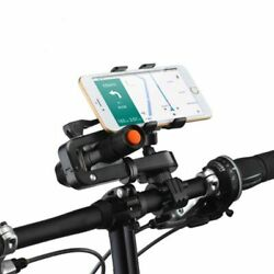 360anddeg Rotation 2in1 Bicycle Cell Phone Holder Multifunctions Flashlight Hol