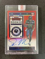 2019 Contenders Dk Metcalf Rookie Rc Ticket Rps Red Zone Variation Auto 🔥🔥🔥