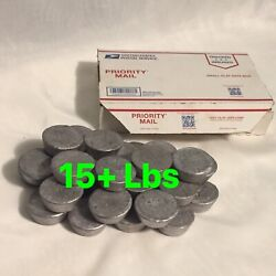 15lb+ Lead Ingots Clean 🇺🇸 Made Casting Bullet Fishing Weight Sinkers 9mm