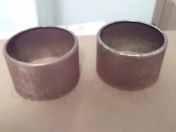 1950and039s Chevy Pontiac Packard Cadillac 2x4 Bat Wing Air Cleaner Stacks Pair