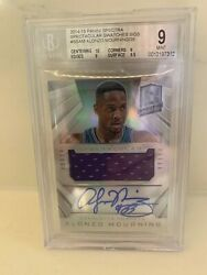 2014-2015 Alonzo Mourning Panini Spectra Spectacular. Autograph/jersey Bgs 9 Psa