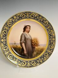 """Antique Royal Vienna Porcelain Charger/plate Of Ruth 14"""""""