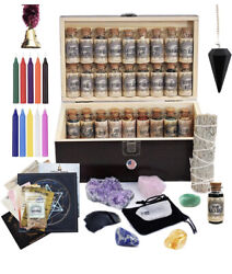 Unalunamoona Witchcraft Kit Box Altar Supplies Wiccan Pagan Witch Herbs 2