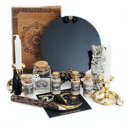 Unalunamoona Scrying Mirror Witchcraft Kit Altar Supplies Wiccan Divination
