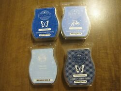 Scentsy Homestead Holiday, Jammy Time, Eskimo Kiss And Clean Breeze Lot Of 4