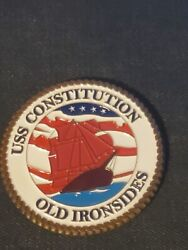 Uss Constitution Old Ironsides Ship The Law Of The Land Challenge Coin.