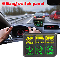 6 Gang Switch Panel Electronic Relay System For Jeep Toyota Truck Atv Light Bar
