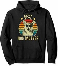 Best Dog Dad Ever Cardigan Welsh Corgi Fatherand039s Day Gift Hoodie Size M-5xl