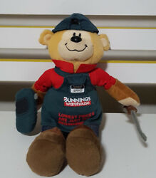 Brad The Bunnings Bear Welder With Tools Soft Toy Plush Toy 28cm Tall