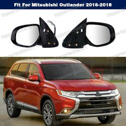 9lines Heated Power Door Mirror 7632b588/587 For Mitsubishi Outlander 2016-2018