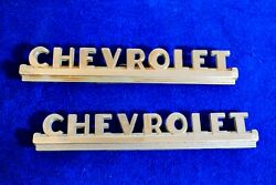 Vintage 1947 1953 Chevy Pickup Truck Side Hood Emblems Badge Accessory 3692103