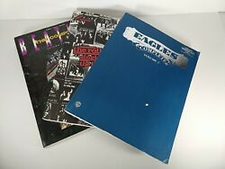 Lot Of 3 Guitar Tab Books Eagles, The Rolling Stones And Beatles Rock And Roll