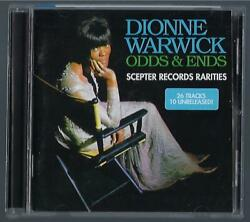 Dionne Warwick Odds And Ends Cd Scepter Records Rarities 26 Tracks 10 Unreleased