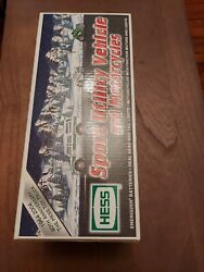 2004 Hess Truck 40th Anniversary Toy Truck Suv And 2 Motorcycles New In Box