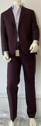 Brioni Suit Madison Brioni Red Size It52 Uk42 Bnwt Wool/cotton/silk Rrp Andpound3620