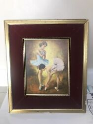 Antique Original Oil Painting By Feinrich Framed Size 19/16 Inches