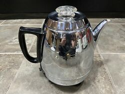 Vintage General Electric Percolator Pot Belly Chrome Coffee Maker Ge Works