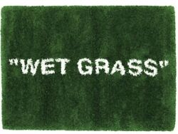 Virgil Abloh Ikea Markerad Wet Grass Rug 195x132cm Green Off-white Supreme 2019
