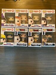 Lot Of 8 Different Funko Pop Stranger Things Figures - Eleven X3, Will, Hopper++