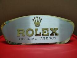 100 Swiss Made Authentic Vintage Rolex Shop Display Sign Collectible 19 X 8