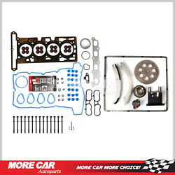 Timing Chain Kit Water Pump Head Gasket Bolts Fit For 04-06 Gmc Chevrolet Isuzu