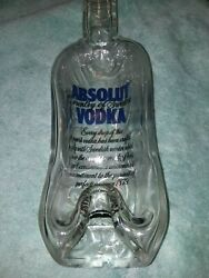 Absolut Vodka Bottle Flat Melted Glass Wall Decor Serving Cutting Tray