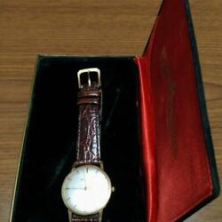 Seiko Vintage Overhaul Goldfeather Manual Winding Mens Watch Authentic Working